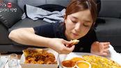 【Hamzy 吃播】香酥脆炸鸡&秘密奶酪披萨!烧酒/炸鸡/披萨这个组合绝啦~