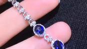 之前找蓝宝石手链的来看咯!7克拉多蓝宝石,钻石总共1.48克拉,皇家蓝色太高级,相信聪慧的你已经嗅到下一年流行色,快来走到时尚最前端吧[得意],