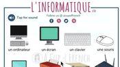 每天3分钟看图学实用法语词汇 9.1 U盘 充电器 键盘 鼠标 路由器 耳机 平板 笔记本电脑