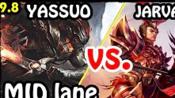 【对线】北美第一YASSUO的疾风剑豪 亚索 vs 德玛西亚皇子 嘉文四世- LOL英雄联盟9.8蒙太奇精彩集锦系列 Yasuo vs Jarvan