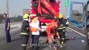 广州一学校组织秋游,大巴在广清高速追尾司机死亡,多名学生受伤