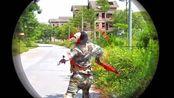 搞笑枪战游戏,特警战士Nerf枪战斗面具强敌
