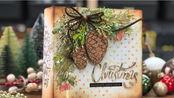 【相册】超级详细的圣诞风俄罗斯相册装订内页封面制作教程 Diario Navidad - Encuadernación rusa sin coser