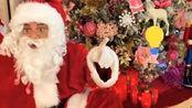 圣诞老人请假了,爸爸假办圣诞老人,被小孩识破