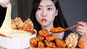 【Fume】辣炒年糕 明朗热狗 蜂蜜炸雞 最佳韩国料理组合 吃播(2019年10月16日21时45分)