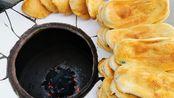 河南息县特色小吃烧饼,23年的手艺。中原官话信蚌片方言为你完整呈现美食的诞生