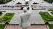 航拍贵州贵阳人民广场筑城广场毛主席塑像