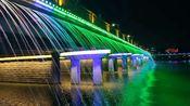 广东茂名的春节期间的城市夜景,五彩斑斓灯光炫丽,可以媲美一线城市