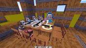 迷你世界:五个孩子要分一块肉!小儿子以为分不到肉,要急哭了