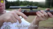 点22lr小口径瓦尔特卡宾枪实弹射击测试,小看它的威力你就错了!