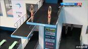 【第四跳卢为/张家齐75.84分 总分258.84继续领跑】#2019国际泳联世锦赛#女子双人10米台决赛,卢为/张家齐选择了4