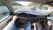 开一辆1989梅赛德斯-奔驰190 W201 2.3E高速驱动