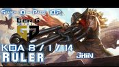 [LOL第一视角]Gen Ruler JHIN vs MISS FORTUNE ADC - Patch 10.2 KR Ranked