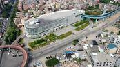 航拍厦门同安区乐海商圈中心,环形网红桥,BRT终点都在这里