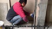 墙面贴瓷砖做拉毛,粘贴效果最理想,防空鼓防脱落