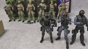 【halo暗源火力基地】第十九弹 暗源1:18腾讯合作穿越火线cf斯沃特swat警 3.75寸可动兵人开盒展示
