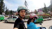 越南女孩带我去参加婚礼,刚出发就堵车,越南sapa的路太小了