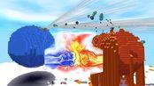 迷你世界模拟战争地球VS火星:火星刚上场就被消灭了!