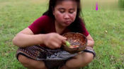 越南女子找了些柴火准备制作美食, 你知道她做的是什么吗