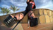 夏日海边的超高跟鞋美女Confident Walk in Sexy Heels www.SeeMeWalking.com(1080P_60FPS)