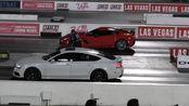 400米直线加速赛强强对决:克尔维特Z06险胜道奇地狱猫