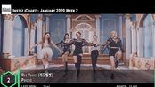 Instiz iChart总榜Top20 - 2020 1月第2周 Meteor Red Velvet IU MAMAMOO Younha