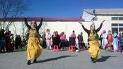 沧州崔尔庄田村秧歌队 广场舞(印度制造)