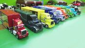 奶牛挡住了超级大卡车的道路,汽车总动员的玩具故事