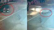 监控曝光!河北张家口一名中学生放学路上被小车撞飞