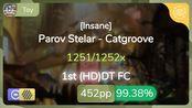 Toy | Parov Stelar - Catgroove [Insane] 1st +HDDT FC 99.38% {#1 452pp FC} - osu!