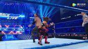 WWE美式摔跤娱乐 SD 5.9 六人大战传奇大师上演擂台高速旋转三角攻