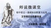 初中语文—文学常识与名著导读 第五节—戏剧