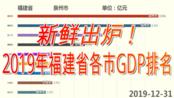 新鲜出炉,B站最快!2019年福建省各市GDP排名【数据可视化】