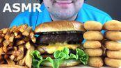 【russian eating】助眠自制芝士汉堡、鸡块和炸薯条(吃的声音)不说话(2019年10月29日20时0分)