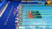 军运会女子100米自由泳决赛,杨浚瑄0.05秒险胜夺金,朱梦慧摘银