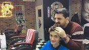(salon numan TV)土耳其理发师给帅气小哥的头部护理,头部按摩(看的我也想去按一次)