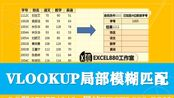 Excel查找函数VLOOKUP局部模糊匹配的使用方法 案例详解