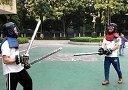 2014.3.23 Ken持中式双手剑 vs Gaglin双持中式单手剑