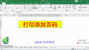 Excel打印添加页码的方法,日常办公常用到,简单易学!