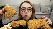 上海吃播:阿尤挑战德克士手枪鸡腿,撒上胡椒粉,好吃到犯规