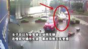 现在女人真猛:女司机买早餐连撞5车,酒驾还没有驾驶证