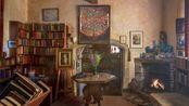 【白噪音】4H   作家的书房   壁炉+书写+翻书+鸟鸣   Youtube搬运