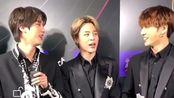 皮皮旻后台采访模仿方屁帝nim音源部门BTS大赏受赏时的语气
