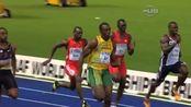 在2009年德国柏林的世界田径锦标赛上来自牙买加的尤塞恩·博尔特以9.58秒创下100米世界纪录