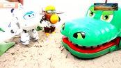 少儿益智玩具,神奇的鳄鱼,超级大侠的惊喜大礼