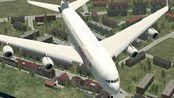 瑞士航空A380遇险,緊急降落在蘇黎世机场动画