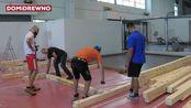 2018-Domidrewno展位的创建方式934. Targi Drema 2018 - jak powstawao stoisko Domidrewno