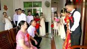 广东一姑娘出嫁,娘家陪嫁好多,离别时新娘和妈妈哭了