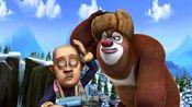 熊出没:强哥的加强版雪球枪没了雪,就会被熊撞下冰河