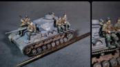 【Art Models】1/72 德国Pz.kpfw.IV Ausf.F2型号G 坦克模型场景制作